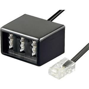 BT-1602101 Basetech ISDN, Telefon (analog) Adapter [1x RJ45-Stecker 8p8c - 1x TAE-NFN-Buchse] 0.20m Schwarz